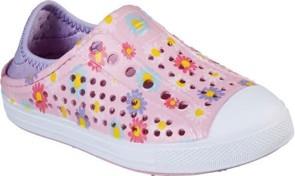 Skechers Guzman Steps Hello Daisy Childrens Beach Pink